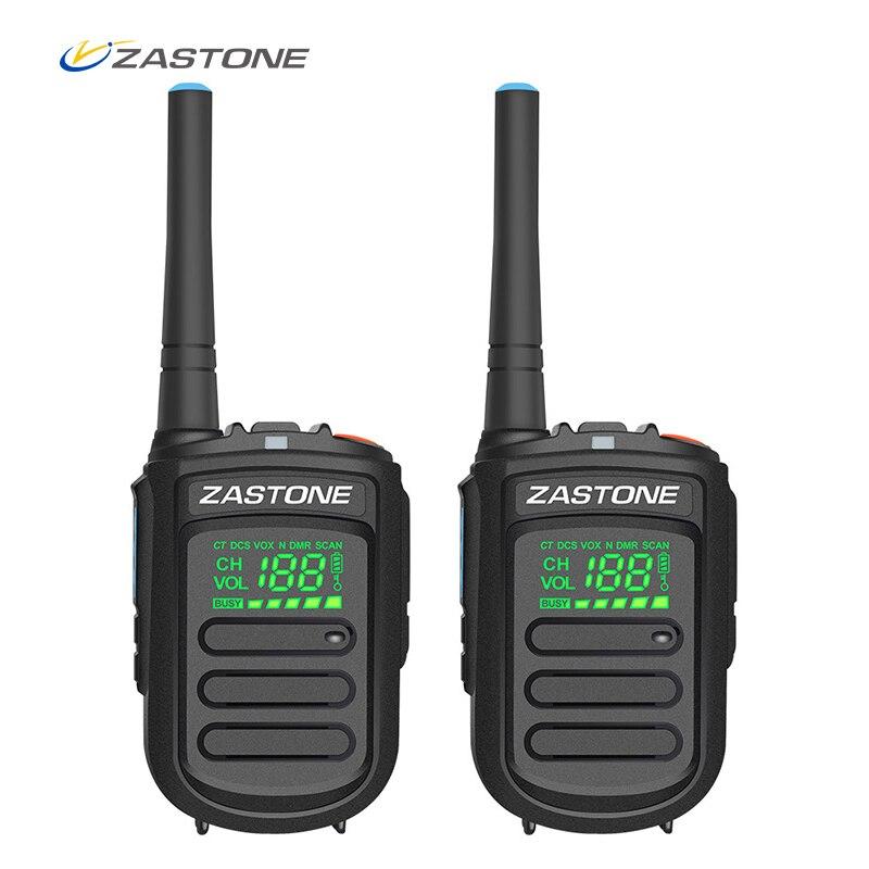 (2 unids) Zastone Mini9 + DMR Digital Mini Walkie Talkie portátil 2 W UHF 400-470 MHz HF transceptor de Radio CB Comunicador CB Radio