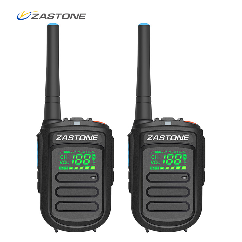 (2pcs) Zastone Mini9 Plus DMR Mini Digital Walkie Talkie Portable UHF 400-470MHz HF Transceiver CB Radio