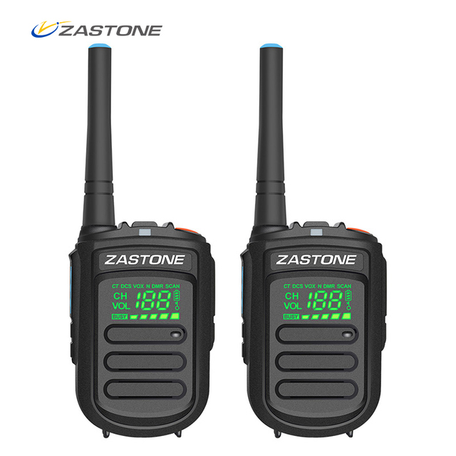 (2pcs) Zastone Mini9 plus DMR Mini Digital Walkie Talkie Portable UHF 400 470MHz HF Transceiver CB Radio