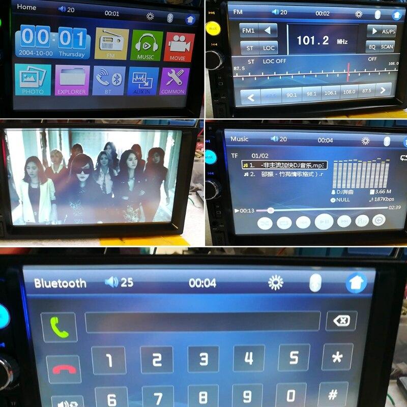 Car-Styling 2 din car radio 7 HD Player MP5 Touch Screen Digital Display Bluetooth Multimedia USB Autoradio Car Backup Monitor цена