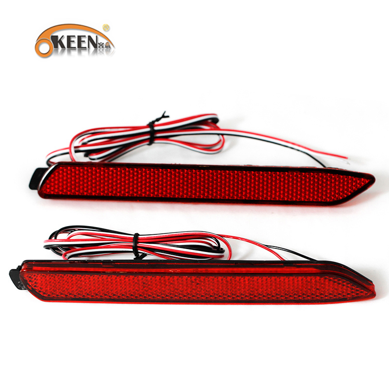 Okeen para toyota camry 2009 2012 led freio traseiro refletor lâmpada cauda luz de freio para innova/isf/gx470/rx300 parar luzes