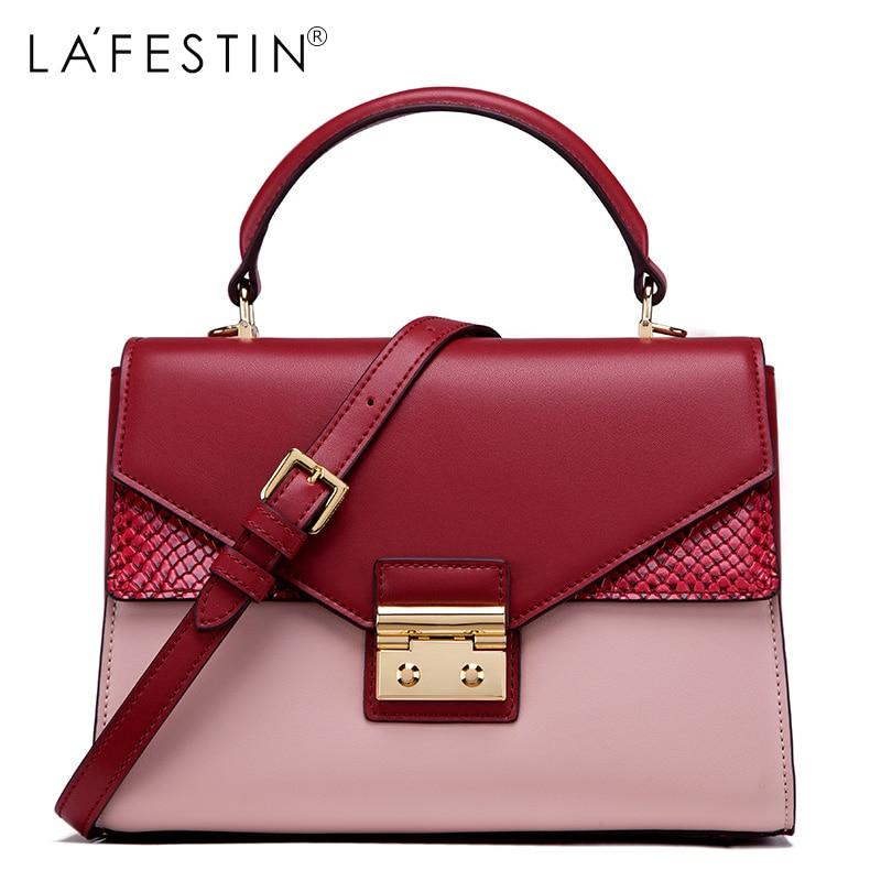 888bf4ec9d LAFESTIN 2018 Women Handbag Bag Serpentine Panelled Fashion Women Fashion  Crossbody Bag Designer Luxury Brands bolsa-in Shoulder Bags from Luggage    Bags on ...