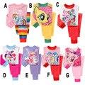 2016 Meu Pequeno Pônei Meninas Conjunto de Pijama Sleepwear Crianças Pijama meu Pequeno Crianças Pônei Roupas Define Melhor Presente Para As Crianças Pijamas