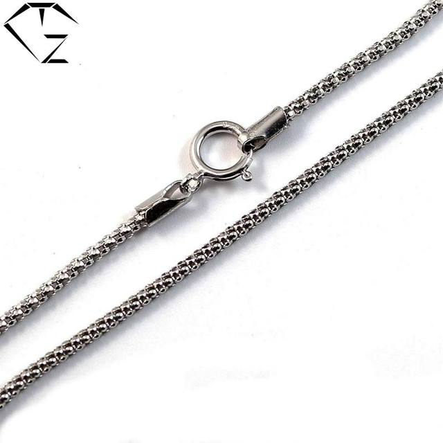 GZ 3MM Corn Chain Necklace for Women Men 100% Real 925 Silver Accessorice S925 Thai Solid Silver Jewelry Making Necklaces Long
