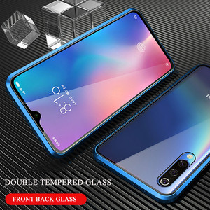 Image 5 - 360 Magnetic Adsorption Metal Case for Xiaomi mi 9 Transparent Shockproof Tempered Glass Cover for Xiaomi mi 9 se mi 9t Case