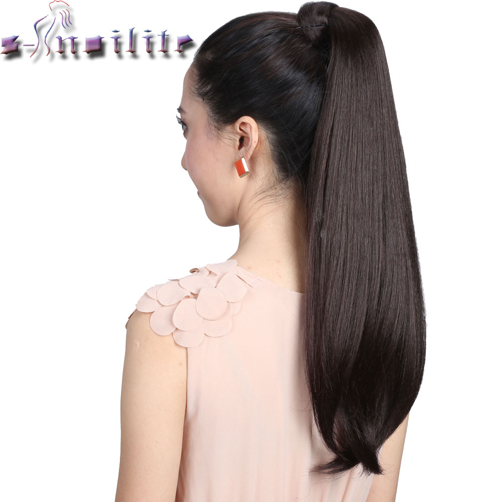S Noilite Women 2426 Drawstring Pony Tail Long Straight Hair