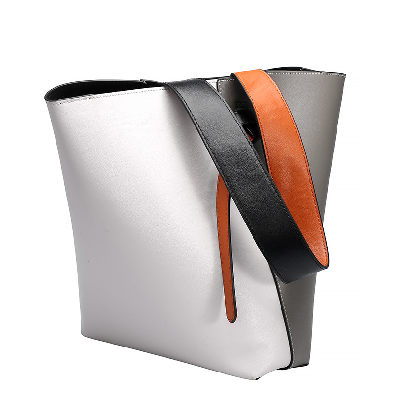 2016 New Cowhide Women Bags Fashion Bucket Shopping Bags High Quality Women Tote Shoulder Bags