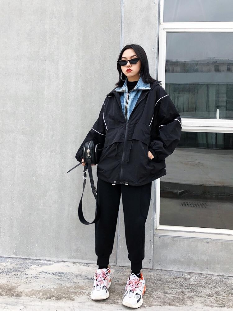 gris Caliente Negro Pantalones Harajuku Pantalón Cintura Bf Pies Alta Jasmine Moda Hallen Color De Puro YTw6qH