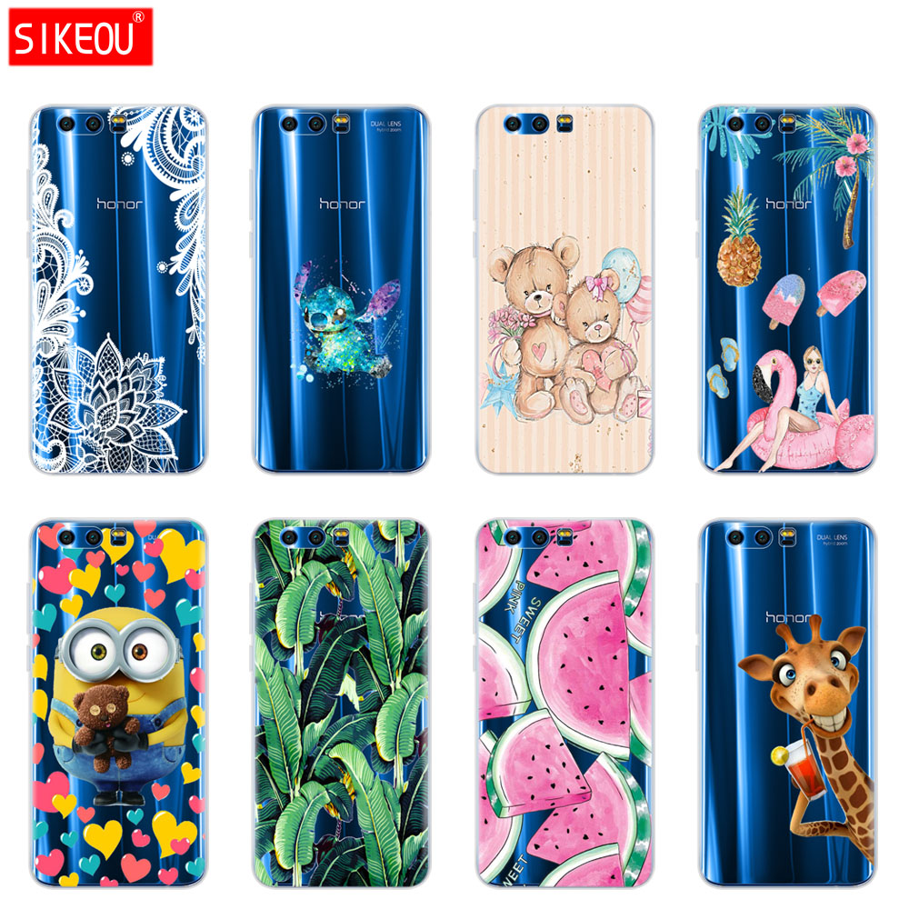 Case For Huawei Honor 9 Case Soft TPU Silicone Cool full 360 Protective