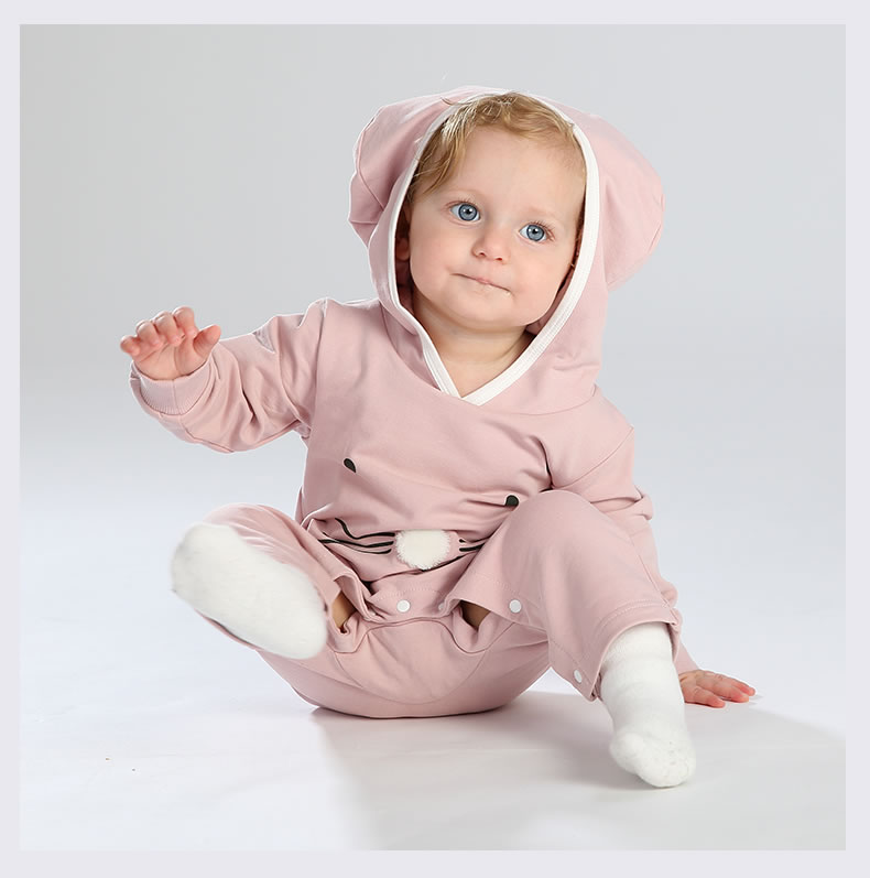 Wisbibi 2018 new spring autumn baby girls one cute Cat printed girls body suits jumpsuits for kids girls infant clothing rompers