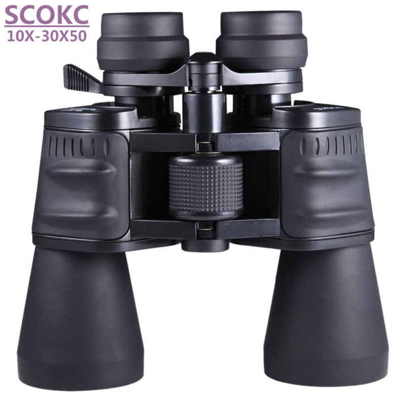 SCOKC10-30X50 power zoom glass Binoculars professional telescope for hunting high quality monocular telescope binoculars купить в Москве 2019