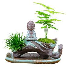 Buddhist mood Buddha Succulent plants gardening balcony ceramics Flowerpot