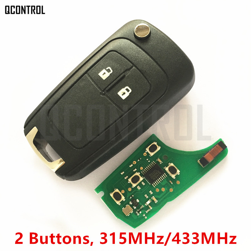 QCONTROL Car Remote Key DIY for Chevrolet Malibu Cruze Aveo Spark Sail 2 Buttons with Chip