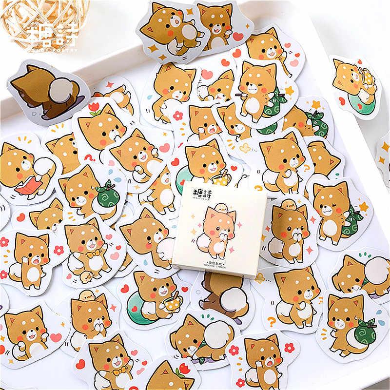 45 adet/paket Shiba Inu kırtasiye Sticker dekoratif çıkartmalar yapışkan çıkartmalar DIY dekorasyon günlüğü çocuk hediye