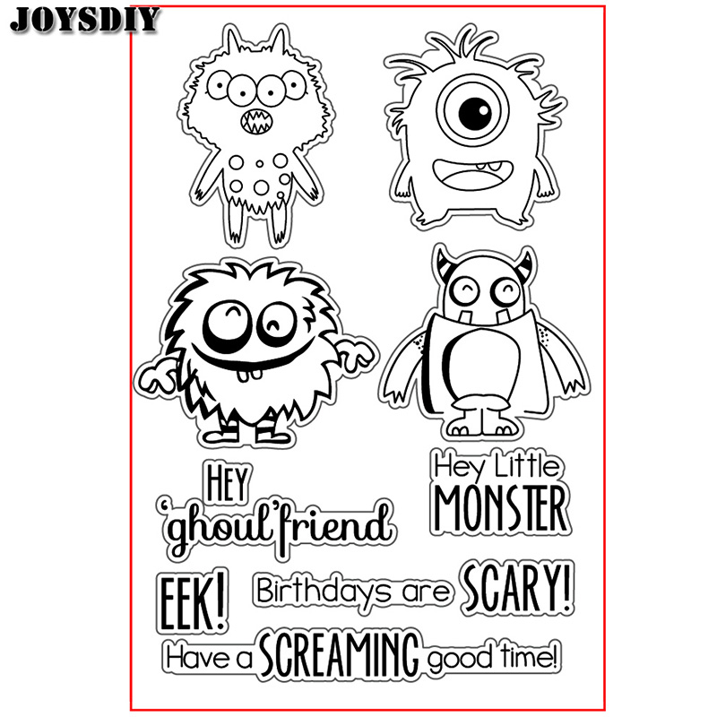 LITTLE MONSTER GHOUL FRIEND Scrapbook DIY  photo cards account rubber stamp clear stamp transparent stamp Handmade card stamp spider texture background scrapbook diy photo cards account rubber stamp clear stamp transparent stamp handmade card stamp
