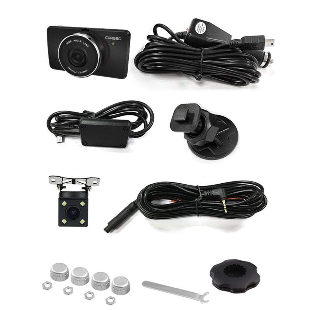 3 in 1 CAREUD 3.0-inch NT96658 Mini 1080P HD driving recorder LCD touch screen HD Rear View Camera TPMS Built-in Lithium портативный камкордер a240 hd 1080p 3 0 lcd 16 x