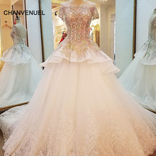 LS90003 special wedding dresses lace ball gown corset back wedding gowns 2017 robe de mariage real photos