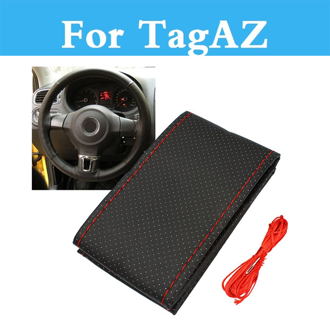 Car Styling Diy Car Steering Wheel Cover With Needles And Thread For Tagaz C10 C190 C-<font><b>30</b></font> Road Partner Tager Vega Aquila image