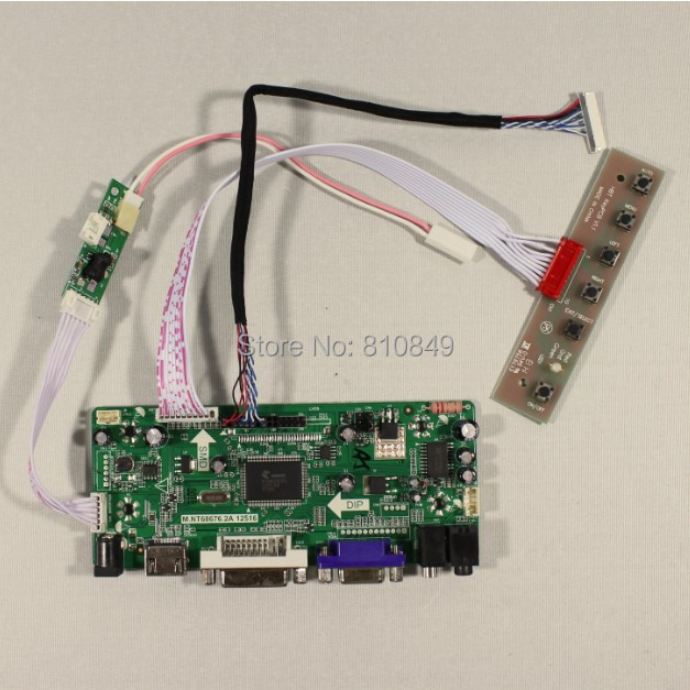 HDMI+DVI+VGA+Audio controller board work for 10.4inch TM104SDH01 800*600 Lcd panel