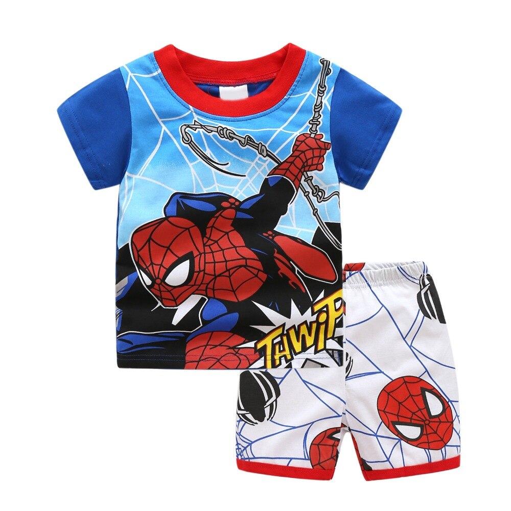 Spiderman Ensemble T Shirt Short Gar/çon