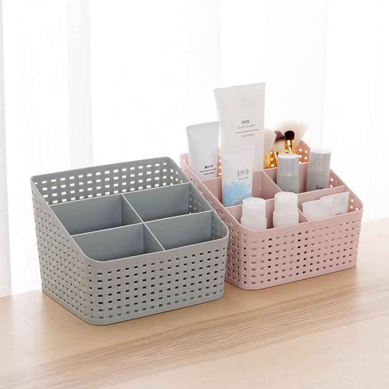 Multi-Functional Makeup Storage Box Desktop Accessories Organizer Cosmetic Makeup Organizer Cosmetic Case Remote Control Holder
