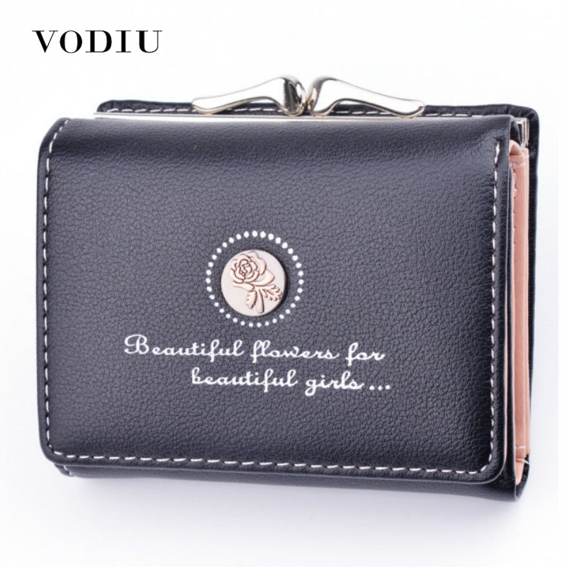 Women's Wallet Women Purses Women's Fashion Clutch Mini Pu Short Wallet Small Coin Purse For Women Female Wallets
