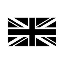 16*9.5CM British Union Jack Flag Vinyl Decals Classic Car Sticker Black/White Fashion Car-styling for Smart MINI Cooper Buick