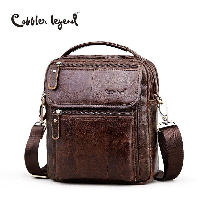 Сапожник Легенда бренда Для мужчин из натуральной кожи Бизнес сумка 2018 Для мужчин сумки на плечо высокое качество мужской Сумки для Для муж...
