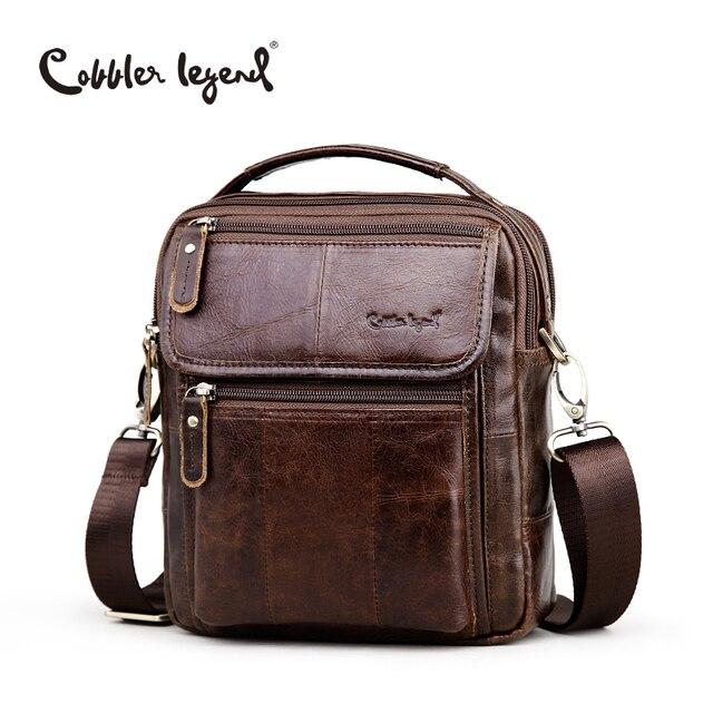 Cobbler Legend Brand Men's Genuine Leather Business Bag 2016 Men Shoulder Bags High Quality Male Handbags For Men #812166-1