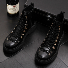 אנגליה מפורסם מותג עיצוב גברים מזדמנים נוסע מדבר צבאי מגפי בוקרים שחורים קרסול מגפי בציר פרה עור נעלי גבר אתחול
