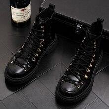 Engeland beroemde merk ontwerp mannen casual tooling woestijn militaire laarzen zwart cowboy enkellaarsjes vintage koe lederen schoenen man laars