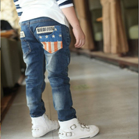 2017 new Kids clothing Spring and autumn New children trousers boys Leisure wild jeans children pants for hot sale
