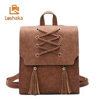 Loshaka Tassel Women Backpacks Lady Bag Female Backpacks Travel Bag Women Designer Vintage Backpack Child School