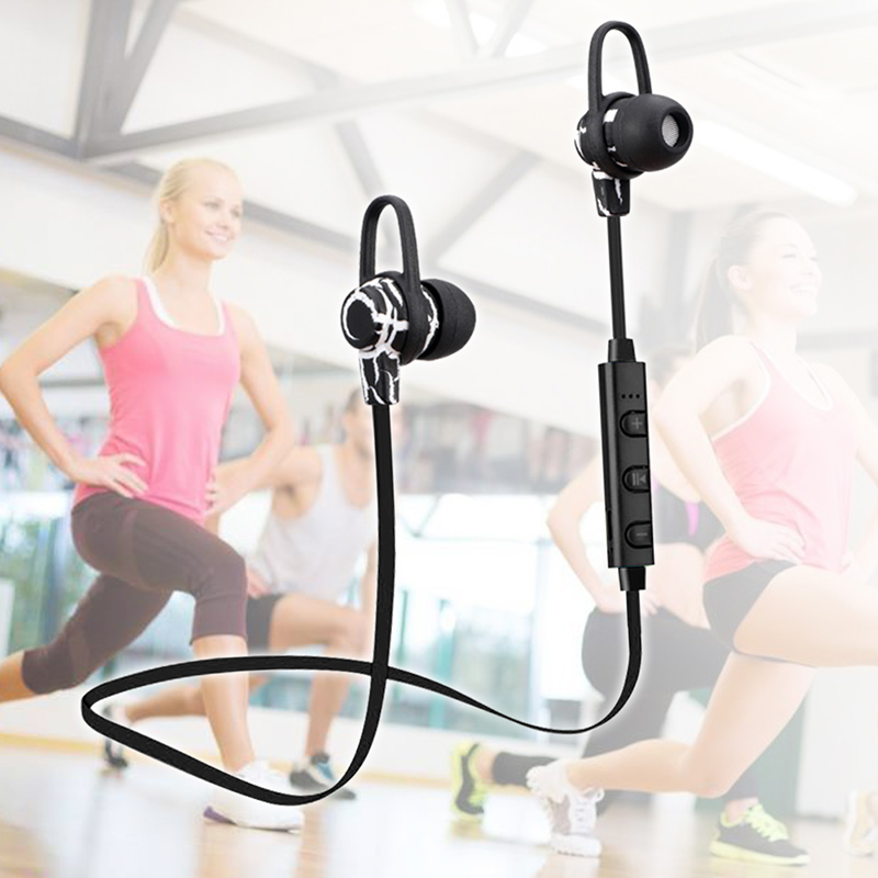 Sports Wireless Bluetooth Headset V4.0 Earphone Gym Headphone with Mic Earbuds Universal for iPhone7 plus Xiaomi Mobile Phone PC mini bluetooth earphone smallest wireless headset earbuds with 6 hour playtime car headset with mic for iphone android phone