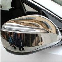 Abs chrome espelho retrovisor capa guarnição/espelho retrovisor decoração para 2013 hyundai santa fe ix45