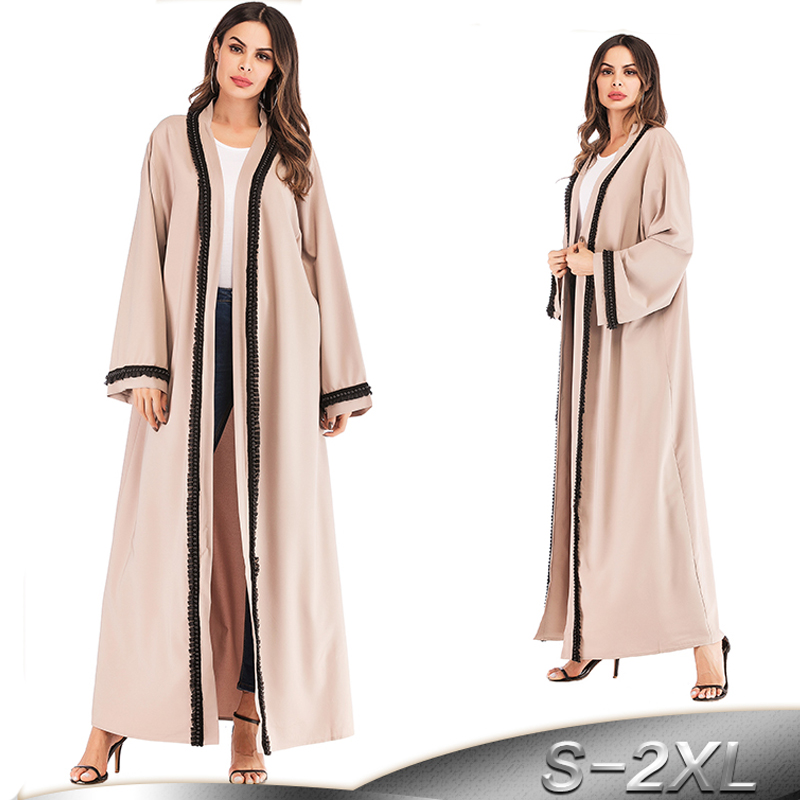 2019 Abaya Robe Dubai Kaftan Long Kimono Cardigan Hijab Muslim Dress Abayas For Women Caftan Marocain Turkish Islamic Clothing