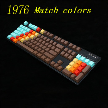 Side printed Top printed Blank 108 Key 1976 Mixed Color OEM Profile Thick PBT Dyed Keycaps For MX Switches Mechanical Keyboard
