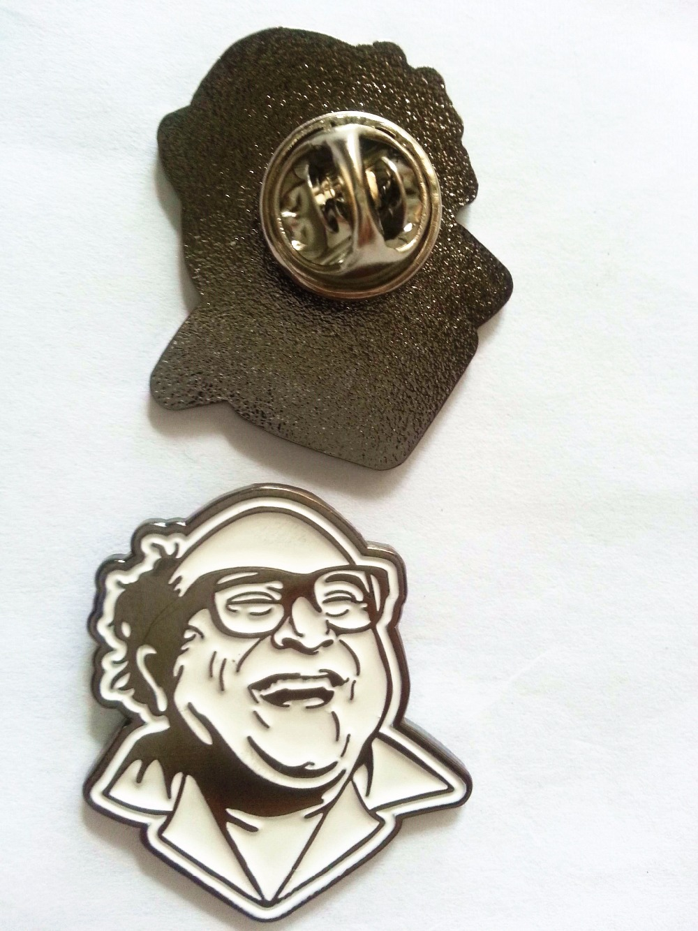 US $113 0 |customized old man lapel soft enamel pins with black nickel  plating+butterfly clutch without epoxy-in Badges from Home & Garden on