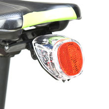 Smart Rechargeable Solar LED Bike Bicycle Tail Light Bycicle Rear Light Cycling Lamp