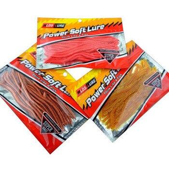 цена 20pcs/pack  Artificial Sea Worms 13.5cm Earthworm Soft Fishing Lures Soft Bait Lifelike Fishy Smell Lures онлайн в 2017 году