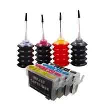 Kit de recharge dencre pour imprimante, pour cartouche dencre EPSON, pour stylet S20, S21, SX100, SX110, SX105, SX115, SX200, SX205, SX209, SX210, t0711 t0714
