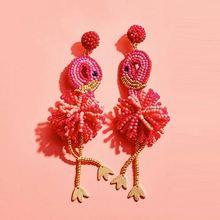 Girlgo Ins Summer Accessories Bird Dancing Earrings Women Bo
