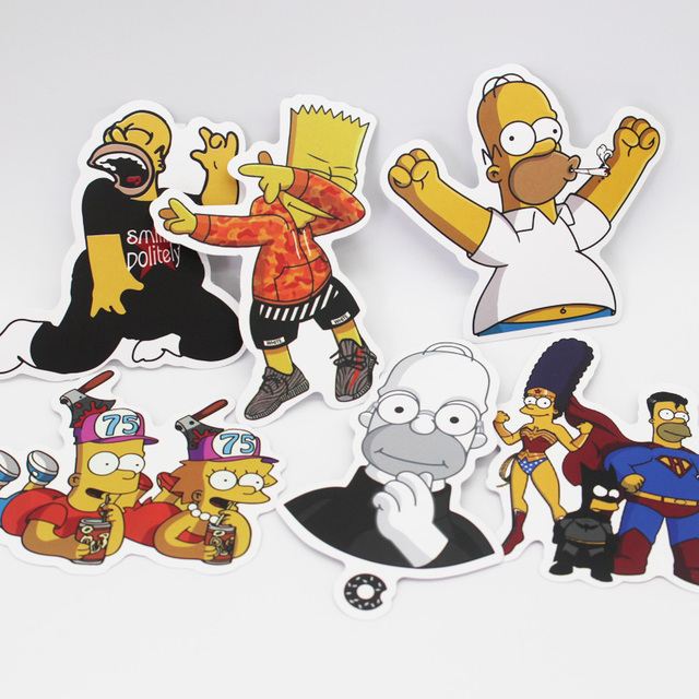 Simpson Funny Stickers 100PCS