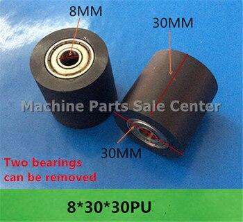 SWMAKER Free shipping F type idler pulley ball bearings 8*30*30 mm bearing 626 POM flat slide wheel Good Quality