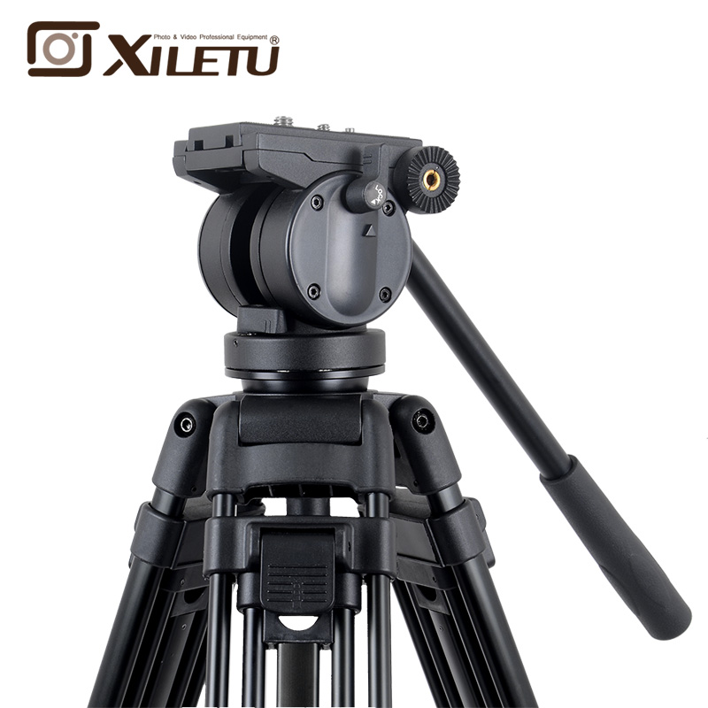 Xiletu XA193M Aluminum Professional Tripod for camera stand DSLR video tripods Fluid Head Damping in Tripods from Consumer Electronics
