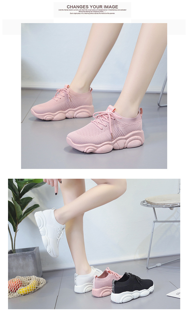 Breathable Women Casual Shoes Summer Lace Up White Platform Sneakers Fashion Soft Walking Flat Women Vulcanize Shoes New VT220 (4)