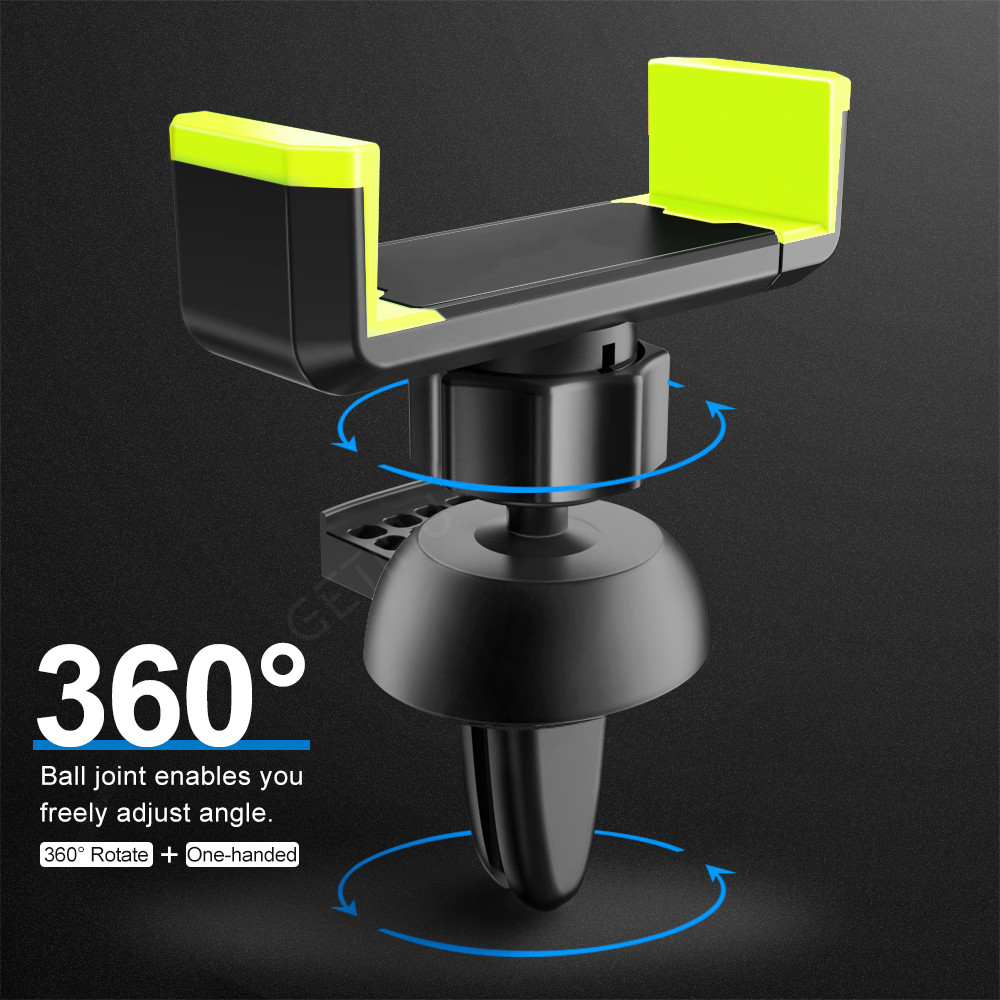 Image 2 - Car Phone Holder for IPhone X XS Max 8 7 6 Samsung 360 Degree Support Mobile Air Vent Mount Car Holder Phone Stand In Car-in Universal Car Bracket from Automobiles & Motorcycles