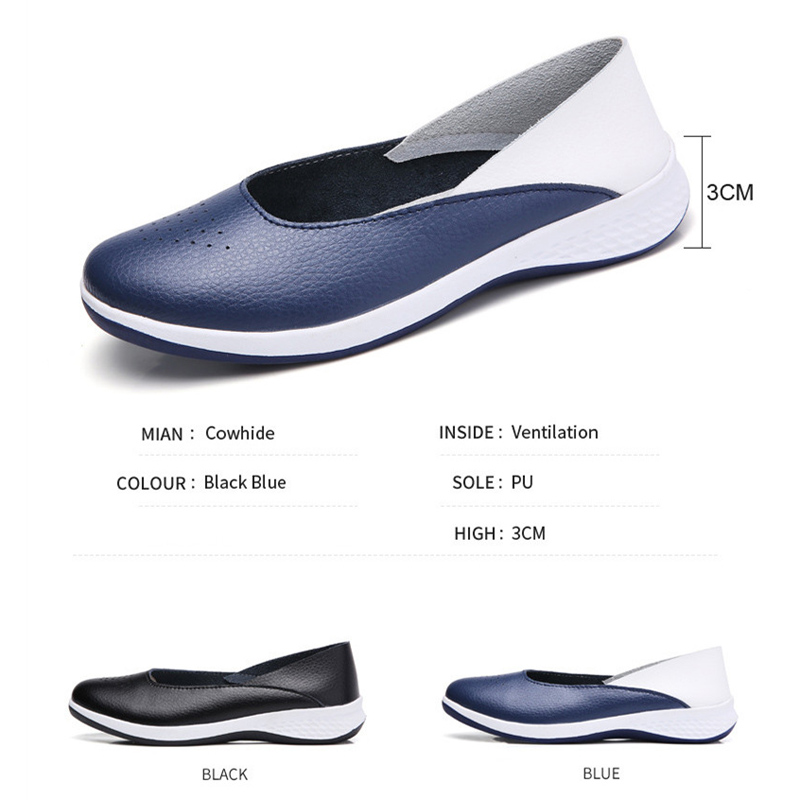 QIYHONG 2018 Handmade New Summer Hole Loafers Women Flat Leather Moccasin Shoes Woman Slip On Ladies Shoes Casual Flats Moccasi in Women 39 s Flats from Shoes