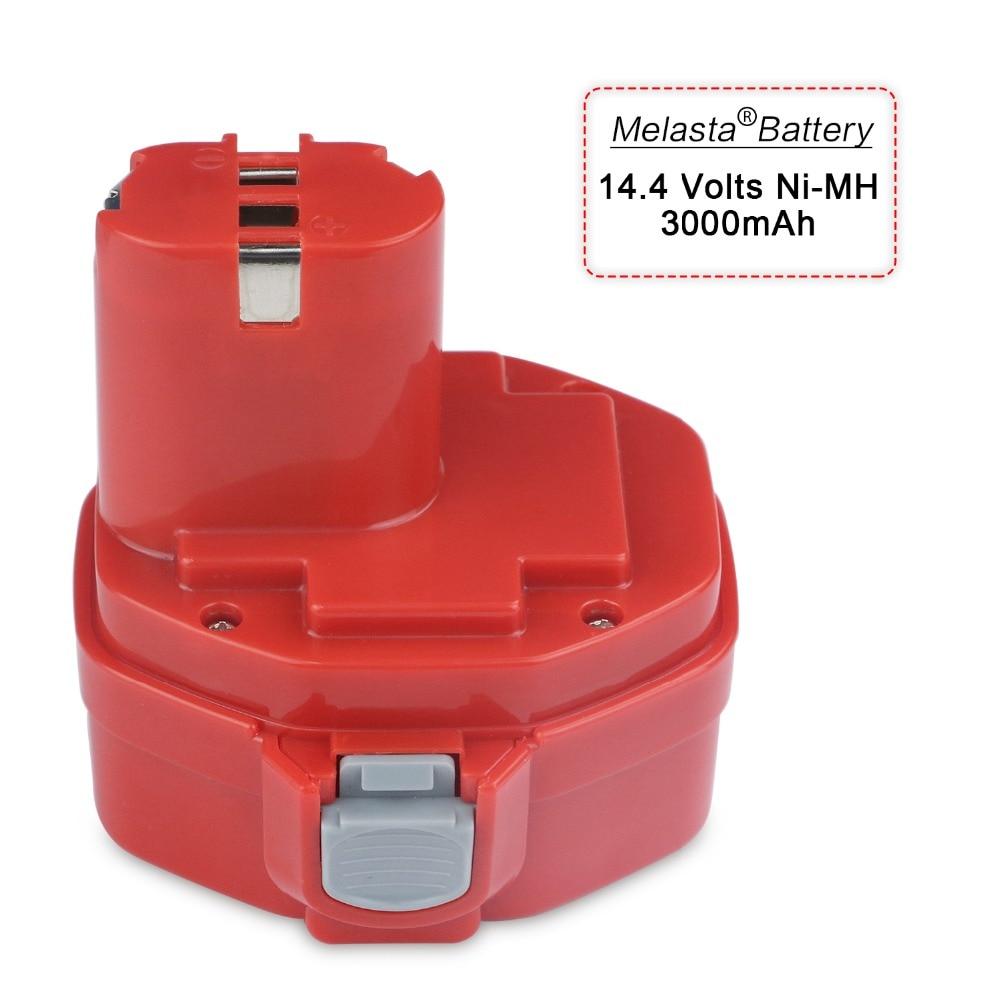 MELASTA 14 4V 3Ah NI MH Extended Battery for Makita PA14 1420 1422 1433 1434 1435F