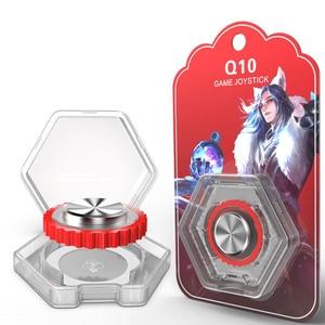 Image 4 - 新しい Q10 ラウンドゲームジョイスティック携帯電話ロッカー/タッチ画面吸引カップ Iphone アンドロイドタブレット金属ボタンコントローラ